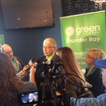 There hasnt been federal leadership on anything in #Canada since Harper became PM. Press conference in #tbay. #GPC http://t.co/INWuWAjboN
