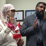 In a private ceremony in Mississauga Zunere ISHAQ woman at heart of niqab controversy becomes citizen. #elexn42 #cbc http://t.co/aWxKatHbTv