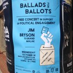 Great joint initiative led by @OttawaShowbox: Free Ballads for Ballots concert next Wed., Oct.14 #elxn42 #ottawa http://t.co/FXYwI4jioS