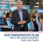Our low-tax, balanced budget plan will protect Canada's economy and create new jobs. http://t.co/Vaq6vzz929 #cdnpoli http://t.co/aWxYj5qBnM