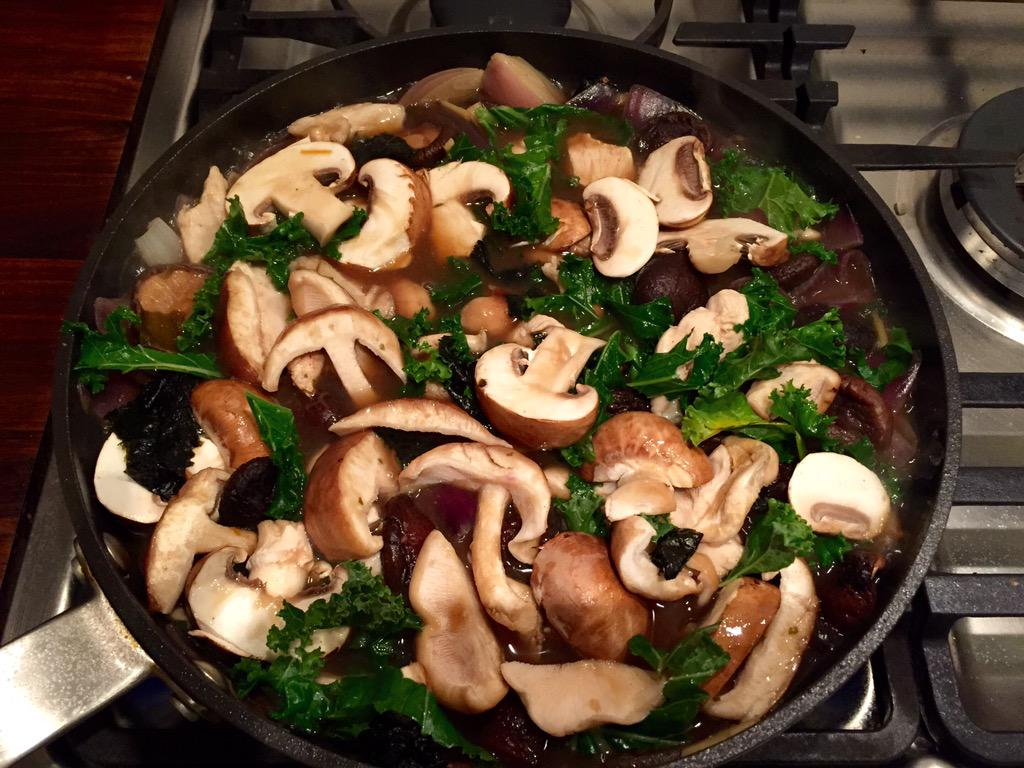 RT @KatStorrSky: Yum @jamieoliver just made your chicken, mushroom and miso broth - SO delicious! http://t.co/Qf1flRryBk