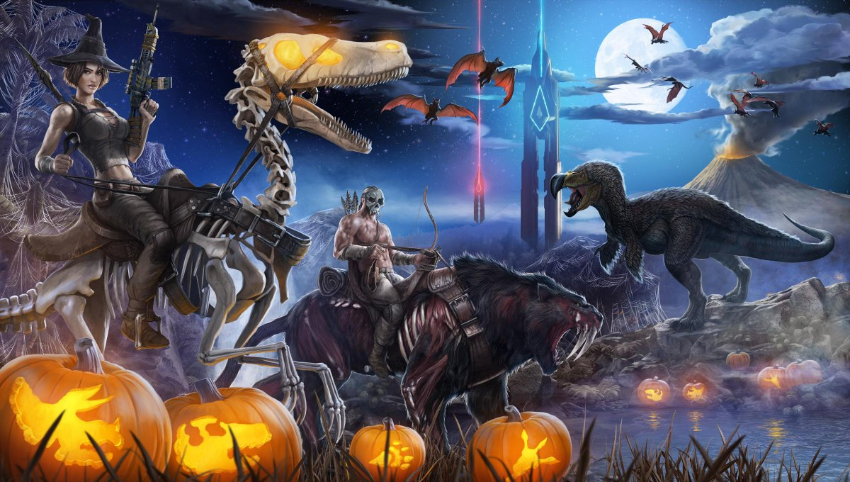 Ark: Survival Evolvedu0027s Halloween Update Lets You Fight Zombie Dodo Birds.  Http:/
