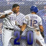 Rangers take 2-0 lead in ALDS! Texas scores 2 runs in the 14th to beat Blue Jays, 6-4. http://t.co/wMYFNItFh0