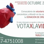 @DNISALTA  te invitamos Martes 13 hr 10, Conferencia de prensa en Secretaría de Cultura. Campaña: Votá X la vida  http://t.co/X9quAkAEAf