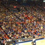 KC Royals work is done for the day. Allen Fieldhouse now ready for Late Night in the Phog. Starts now! #kubball http://t.co/XAtRKcfPzX