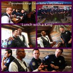 SPD officers at lunch w/a @SacramentoKings Caron Butler @realtuffjuice, We had a great time! #SacramentoProud #sacpd http://t.co/4tJ5eeYFBr
