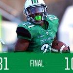 #TheHerd Wins! Marshall defeats @SouthernMissFB Friday night, 31-10. #BEHERD http://t.co/924A5XajYZ