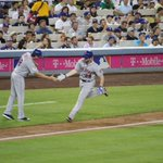 BOOM! Daniel Murphy crushed that ball! 1-0 #Mets! #LGM http://t.co/j7YnzIARgV