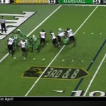 WATCH: Marshall DL intercepts pass, dives over QB for touchdown http://t.co/c6Z6AX2vTh http://t.co/eaxpuZyNmE