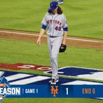 They go in order for @JdeGrom19 in the 6th. A needed quick frame. #LGM #Mets http://t.co/WKsR8N2QX9