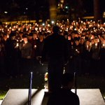 PHOTOS: Students gathered for a vigil on north campus to support Delta Chi. http://t.co/Z2WnAI06Db http://t.co/GDvebrQWSD