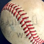 Thats going to leave a mark! Murphys HR ball literally has his name on it. #Beast #LGM #Mets http://t.co/u2Vl4LKjgb