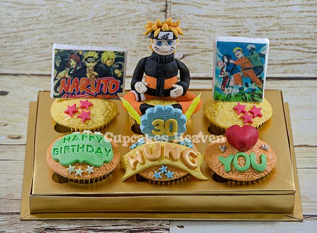#HBDNaruto cupcake ulangtahun utk pecinta Naruto WA 089525024136 LINE cupcakesheaven_line http://t.co/brllLw0aFS