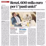 """Davvero """"una buona forchetta"""". Con la cartaVisa della provincia Renzi spese in 3 anni 600.000 € di ristorante IlFatto http://t.co/5FJGU9nr6X"""