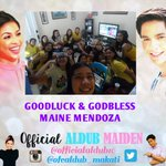 GOODLUCK AND GODBLESS MAINE MENDOZA :D Todo support kami for you dito sa Makati :) #EBDabarkadsPaMore @mainedcm http://t.co/8URGlMwScX