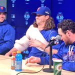Having some fun. #DavidWight and @JdeGrom19 shrink Murphys seat during the press conference. #MetsWIN #LGM http://t.co/OUcvKcenl9