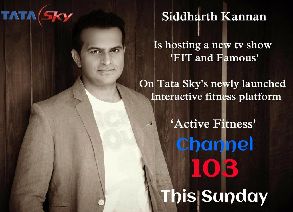 My new tv show #FitandFamous launches tmr on @TataSky 's @actvefitness !Who is d star wid me tmr?any guesses? http://t.co/b6o6nAOnjt