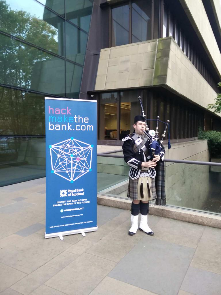 This is how we welcome our participants at #HackMaketheBank #rbs_hmtb http://t.co/UZc71ZY2mh