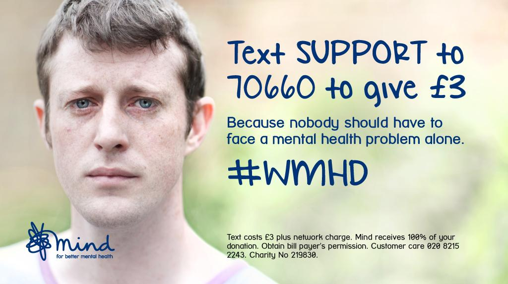 It's #WorldMentalHealthDay today. Help us be there *every day*. Thank you & please retweet! #WMHD #SupportandRespect http://t.co/ibWJsZOr01