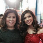 Ms. Jessica Soho with our princess Maine Mendoza. @KM_Jessica_Soho @mainedcm #EBDabarkadsPaMore http://t.co/z8dFGB9R3y