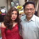 Our very pretty Maine Mendoza with @KM_Jessica_Soho and Sir Mike Enriquez WeAreProudOfYouMeng @mainedcm ❤️ http://t.co/ykY5Z9xV6t