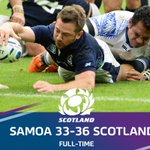 Scotland have sealed a quarter-final place at #RWC2015 with a win over Samoa at St James Park! #AsOne http://t.co/2PoSwUECnJ
