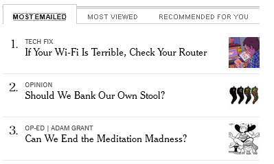 Today's top bourgeois anxieties, otherwise known as the @nytimes most-emailed list. http://t.co/68uWhLIshV