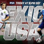 ITS #USAvMEX GAME DAY. Coverage begins at 8 pm EST on FS1 and #FOXSportsGO! http://t.co/xhINzN7mc1