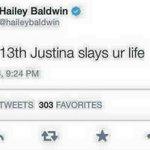 """Nov 13th Justina vai arrasar"" KKKKKKKK (ela apagou o Tweet) #EMABiggestFansJustinBieber http://t.co/urYuoRIwKY"