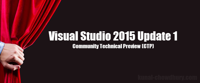 #VisualStudio 2015 Update 1 CTP now available http://t.co/JHwswDMYjc http://t.co/oI1W1RLo5M