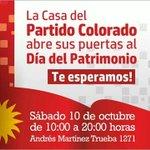 Desde las 10 y hasta las 20 los esperamos en nuestra casa de Montevideo para disfrutar el día del patrimonio http://t.co/tMawBaLtjn