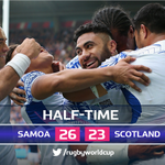 Five tries and the most points scored in the first-half of a #RWC match - whos got their ???? back? #SAMvSCO #RWC2015 http://t.co/F0wEAJBIUj