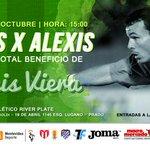 """Hoy se juega el partido """"Juntos x Alexis"""" con el fin de recaudar fondos para el arquero http://t.co/RohW4KYUTu http://t.co/0j3wPIEY0Z"""
