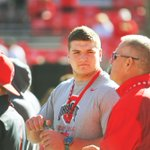 #Buckeyes 2017 commitment - five-star OL Josh Myers (@joshmyers58) at #OhioState today. http://t.co/vRLH2WPWLY