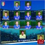 Gli 11 #Azzurri scelti per #AzerbaigianItalia (h 18) da #Conte! #EuropeanQualifiers @RaiUno http://t.co/dWTqvQ6fiw