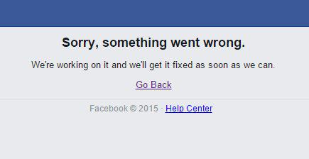 Otra vez #facebookdown , vaya semanitas que están teniendo http://t.co/gc1PfvDkCQ