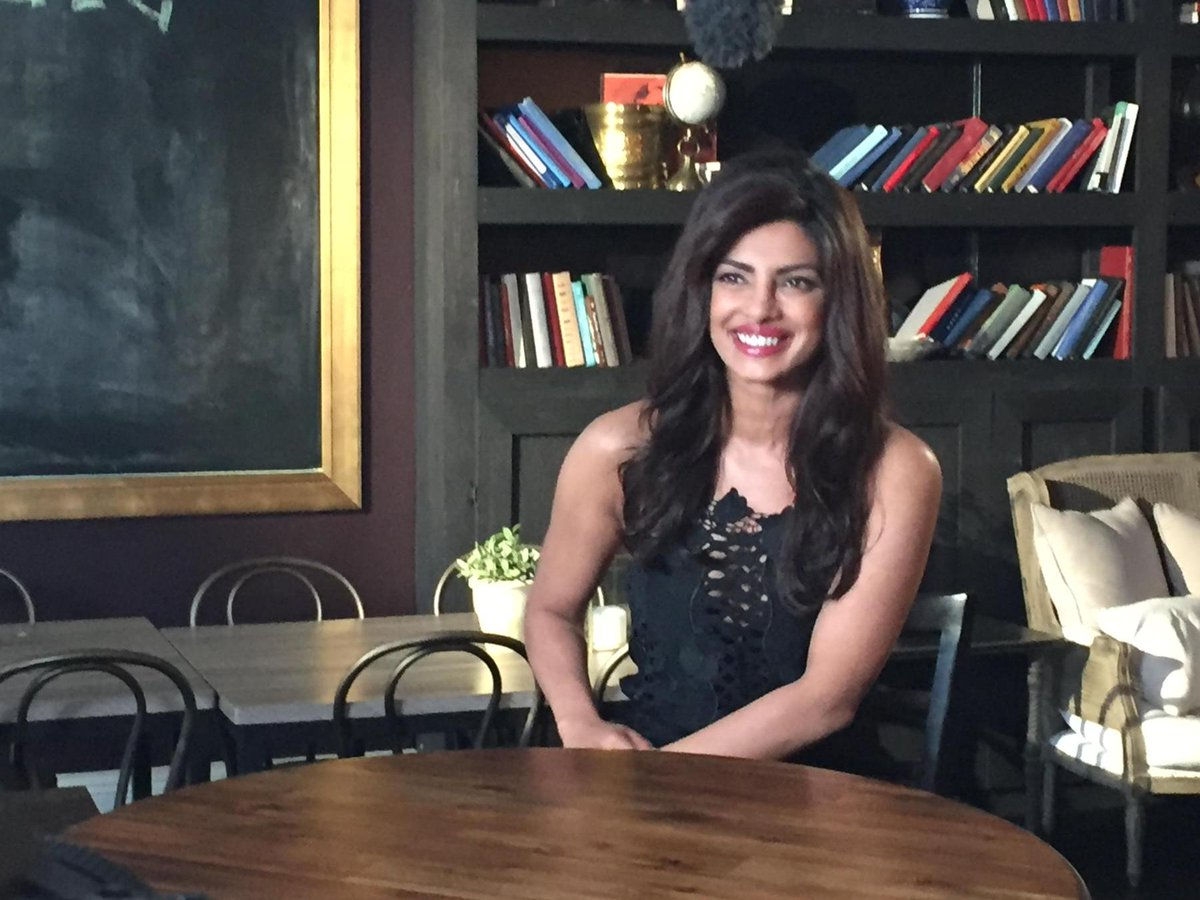 Here is #Quantico star @priyankachopra from her @lastcallcd w/ @carsondaly shoot today. Airs 9/30 at 1:35 AM on @nbc http://t.co/Y8HNz8T5qB