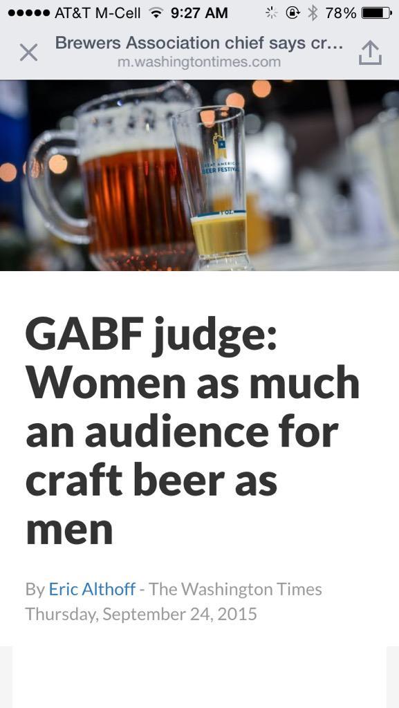#Beer has no #gender http://t.co/eqsRjtOOuM http://t.co/mbV96CqgR1