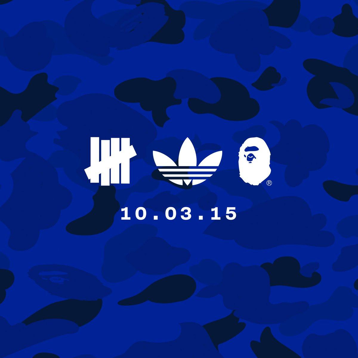UNDEFEATED x BAPE x ADIDAS - 10.03.15 @bapeofficial @adidasoriginals http://t.co/IAHot786nG