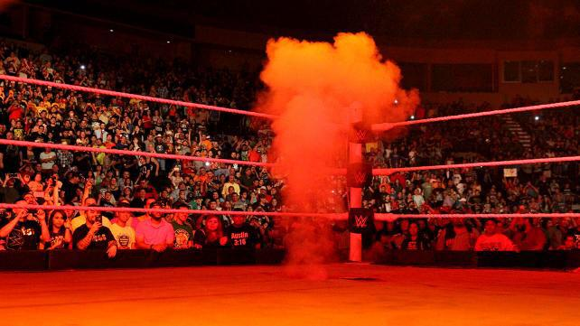 Hornswoggle suspended? Was that what caused the smoke to come from the ring during #RAW last week? It wasn't Kane? http://t.co/LbU88mxGKK