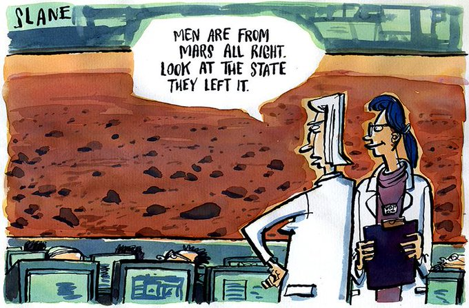 RT @Slanecartoons: Mars #cartoon from the Slane vaults. #mars #discovery http://t.co/ORnc5vHBC1