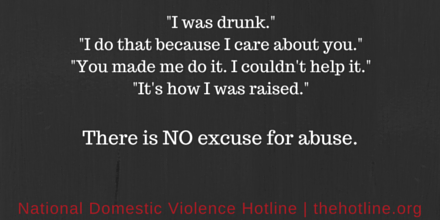 Does your partner minimize abuse or shift the blame? Remember there is NO excuse for abuse http://t.co/AeT1Vkc4Bn http://t.co/VLMmWmntUG