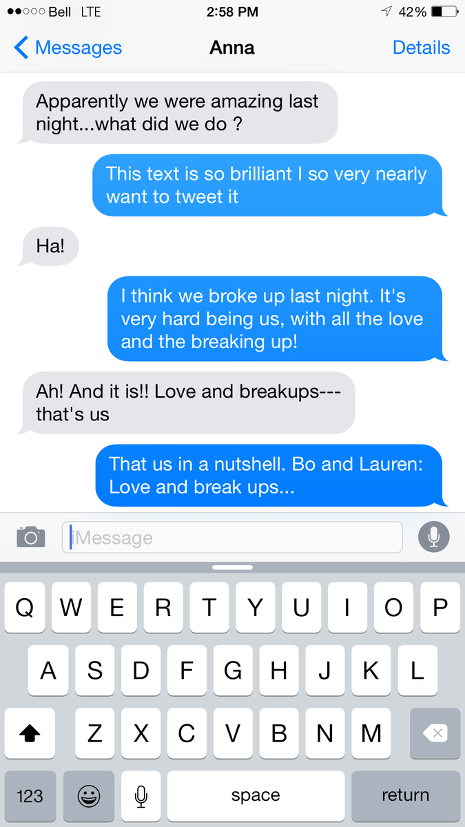 A text message I got from @Anna_Silk today, that made me laugh and love her even more...as though that's possible http://t.co/Bbs6FZxYpJ