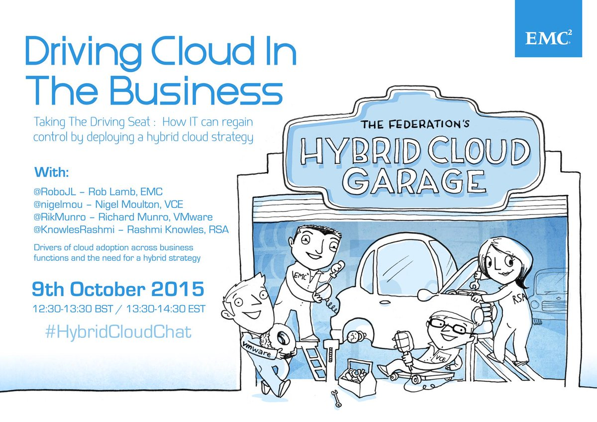 Save the date: #HybridCloudChat with our EMC Federation partners - Oct. 9 https://t.co/gRqV304q47 http://t.co/3D06GrhnbP
