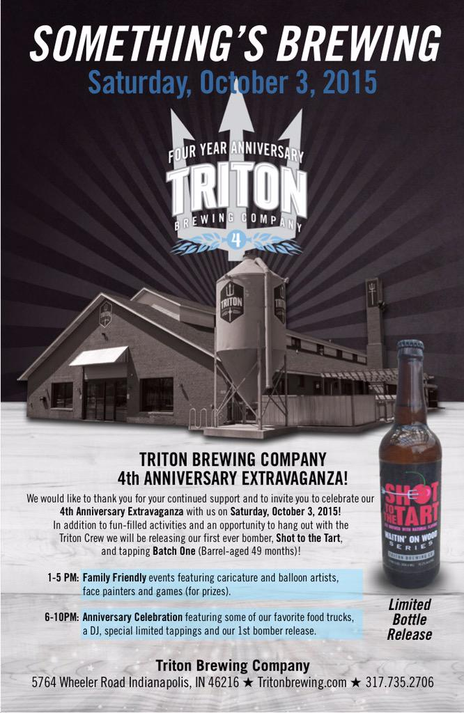 YOU ARE INVITED!! Our #4thAnniversaryExtravaganza is this Saturday 1-10PM #BeThere #BatchOne2015 (barrel-aged 49 mo) http://t.co/qsEr34kgNl