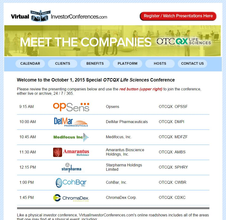 Amarantus Bio $AMBS to present online at OTC Life Science Companies conference OCT 1 > http://t.co/pnklXnPQMU http://t.co/lGW6pktjUE