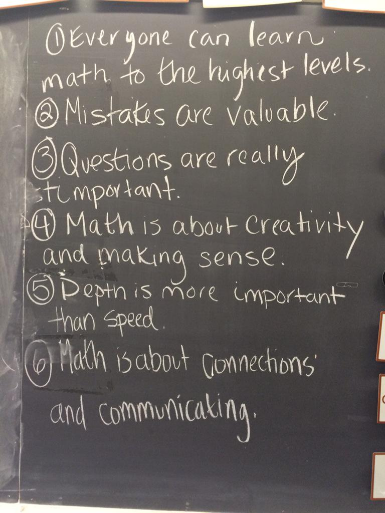 Seen on the chalkboard of a classroom I visited this week. #mtbos http://t.co/9qW6EM69ct