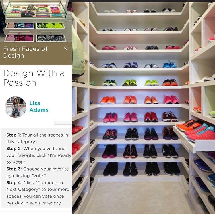 Vote for @LAClosetDesign in #HGTVFreshFaces award! It's my fitness closet vote until 10/30! http://t.co/9U2iks1xvM ❤️ http://t.co/ljYcQo4Enz