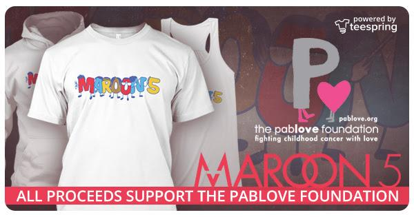All proceeds from the purchase of this @Maroon5 shirt benefit #childhoodcancer research! http://t.co/d8cq0rSk1F http://t.co/XK36iruokZ
