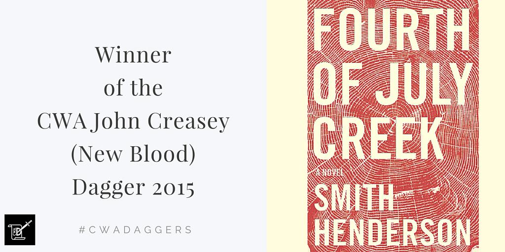 The winner of the CWA John Creasey New Blood Dagger is @smith_henderson Congratulations #cwadaggers http://t.co/SAozjWEeT0